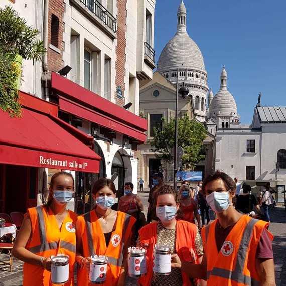 Quête Nationale - Croix-Rouge française à Paris 18
